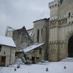 Candes Saint Martin sous la neige