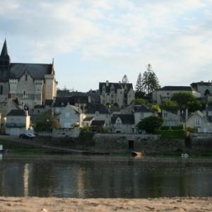 Vue de Candes Saint Martin pointe du Véron