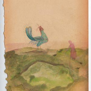Marie Zolamian. A servir, 2013 Gouache sur papier Courtesy Marie Zolamian et la galerie Nadja Vilenne