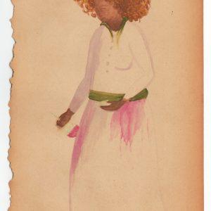 Marie Zolamian. A servir, 2013. Gouache sur papier Courtesy Marie Zolamian et la galerie Nadja Vilenne