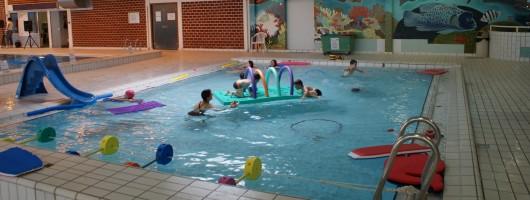 Petit bassin avec une profondeur de 0,75 à 1,10m