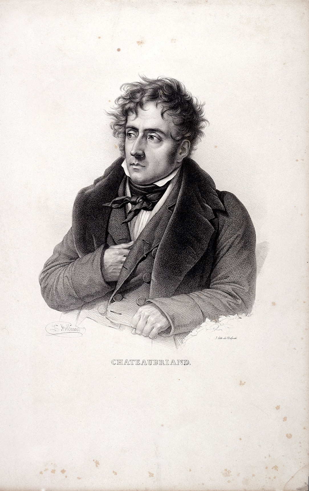 L0023586 François-René, Vicomte de Chateaubriand (1768-1848) Credit: Wellcome Library, London. Wellcome Images images@wellcome.ac.uk https://wellcomeimages.org Francois-Auguste, Vicomte de Chateaubriand Lithograph 1832 By: Francois Seraphin Delpechafter: François Séraphin Delpech and Zéphirin-Félix-Jean-Marius BelliardPublished: [1832] Copyrighted work available under Creative Commons Attribution only licence CC BY 4.0 https://creativecommons.org/licenses/by/4.0/