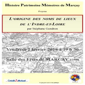 L'origine des noms de lieux de l'Indre et Loire