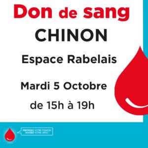 Don de sang Chinon : 5 octobre